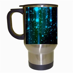 Abstract Stars Falling Travel Mugs (white) by Brittlevirginclothing