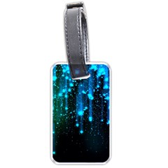 Abstract Stars Falling Luggage Tags (one Side)  by Brittlevirginclothing