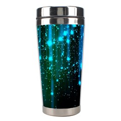Abstract Stars Falling Stainless Steel Travel Tumblers by Brittlevirginclothing