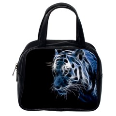 Ghost Tiger  Classic Handbags (one Side) by Brittlevirginclothing