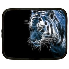 Ghost Tiger  Netbook Case (xxl)  by Brittlevirginclothing