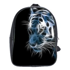 Ghost Tiger  School Bags (xl)  by Brittlevirginclothing
