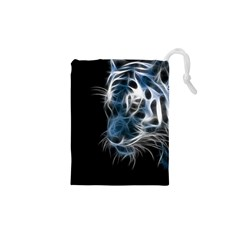 Ghost Tiger  Drawstring Pouches (xs)  by Brittlevirginclothing