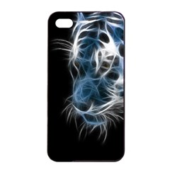 Ghost Tiger Apple Iphone 4/4s Seamless Case (black) by Brittlevirginclothing