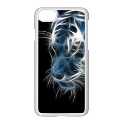 Ghost Tiger Apple Iphone 7 Seamless Case (white) by Brittlevirginclothing
