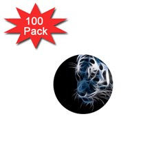 Ghost Tiger 1  Mini Magnets (100 Pack)  by Brittlevirginclothing