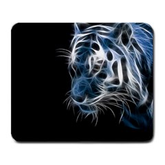 Ghost Tiger Large Mousepads by Brittlevirginclothing