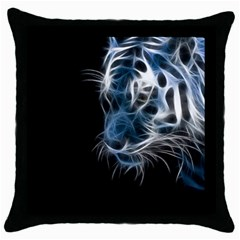 Ghost Tiger Throw Pillow Case (black) by Brittlevirginclothing