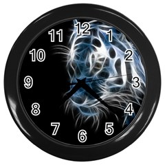 Ghost Tiger Wall Clocks (black) by Brittlevirginclothing