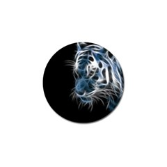Ghost Tiger Golf Ball Marker by Brittlevirginclothing