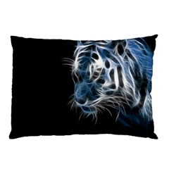Ghost Tiger Pillow Case (two Sides) by Brittlevirginclothing