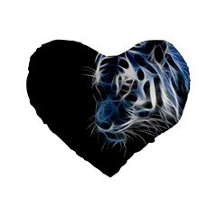 Ghost Tiger Standard 16  Premium Flano Heart Shape Cushions by Brittlevirginclothing