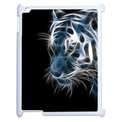 Ghost Tiger Apple Ipad 2 Case (white) by Brittlevirginclothing