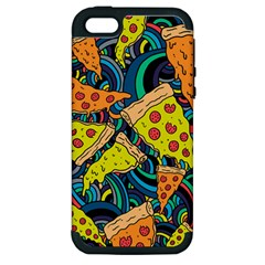 Pizza Pattern Apple iPhone 5 Hardshell Case (PC+Silicone)