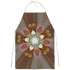 Elegant Antique Pink Kaleidoscope Flower Gold Chic Stylish Classic Design Full Print Aprons by yoursparklingshop
