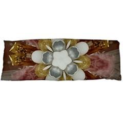Elegant Antique Pink Kaleidoscope Flower Gold Chic Stylish Classic Design Body Pillow Case Dakimakura (two Sides) by yoursparklingshop