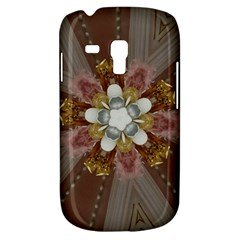Elegant Antique Pink Kaleidoscope Flower Gold Chic Stylish Classic Design Galaxy S3 Mini by yoursparklingshop