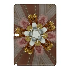 Elegant Antique Pink Kaleidoscope Flower Gold Chic Stylish Classic Design Samsung Galaxy Tab Pro 10 1 Hardshell Case by yoursparklingshop