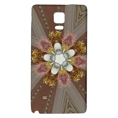 Elegant Antique Pink Kaleidoscope Flower Gold Chic Stylish Classic Design Galaxy Note 4 Back Case by yoursparklingshop