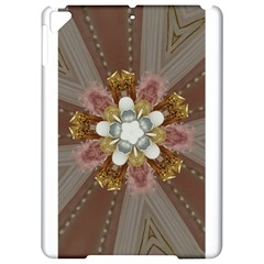 Elegant Antique Pink Kaleidoscope Flower Gold Chic Stylish Classic Design Apple Ipad Pro 9 7   Hardshell Case by yoursparklingshop