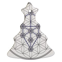 Tree Of Life Flower Of Life Stage Christmas Tree Ornament (2 Sides)