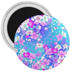 Colorful Pastel Flowers  3  Magnets by Brittlevirginclothing