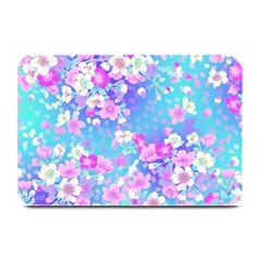 Colorful Pastel Flowers Plate Mats by Brittlevirginclothing