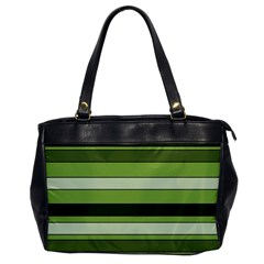 Greenery Stripes Pattern Horizontal Stripe Shades Of Spring Green Office Handbags by yoursparklingshop
