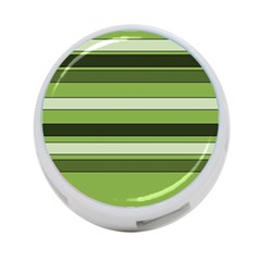 Greenery Stripes Pattern Horizontal Stripe Shades Of Spring Green 4 Port Usb Hub (two Sides)  by yoursparklingshop