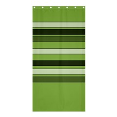 Greenery Stripes Pattern Horizontal Stripe Shades Of Spring Green Shower Curtain 36  X 72  (stall)  by yoursparklingshop