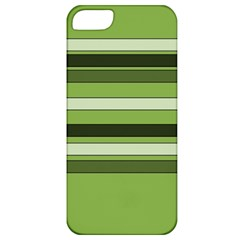 Greenery Stripes Pattern Horizontal Stripe Shades Of Spring Green Apple Iphone 5 Classic Hardshell Case