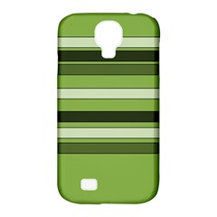 Greenery Stripes Pattern Horizontal Stripe Shades Of Spring Green Samsung Galaxy S4 Classic Hardshell Case (pc+silicone) by yoursparklingshop