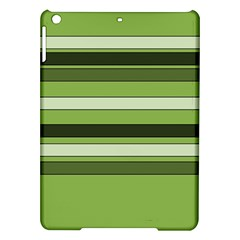 Greenery Stripes Pattern Horizontal Stripe Shades Of Spring Green Ipad Air Hardshell Cases by yoursparklingshop