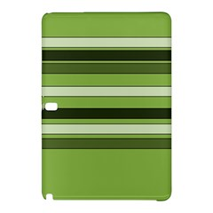 Greenery Stripes Pattern Horizontal Stripe Shades Of Spring Green Samsung Galaxy Tab Pro 10 1 Hardshell Case by yoursparklingshop