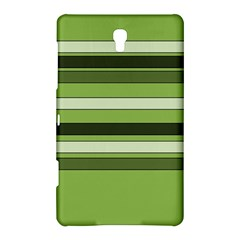 Greenery Stripes Pattern Horizontal Stripe Shades Of Spring Green Samsung Galaxy Tab S (8 4 ) Hardshell Case  by yoursparklingshop