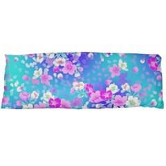 Colorful Pastel Flowers Body Pillow Case Dakimakura (two Sides) by Brittlevirginclothing
