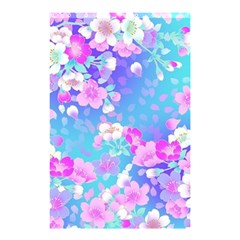 Colorful Pastel Flowers Shower Curtain 48  X 72  (small)  by Brittlevirginclothing