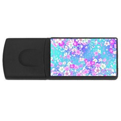 Colorful Pastel Flowers Usb Flash Drive Rectangular (4 Gb)  by Brittlevirginclothing