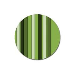 Greenery Stripes Pattern 8000 Vertical Stripe Shades Of Spring Green Color Magnet 3  (round) by yoursparklingshop