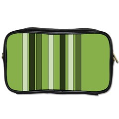 Greenery Stripes Pattern 8000 Vertical Stripe Shades Of Spring Green Color Toiletries Bags 2 Side by yoursparklingshop
