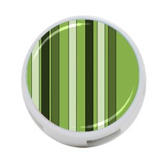 Greenery Stripes Pattern 8000 Vertical Stripe Shades Of Spring Green Color 4 Port Usb Hub (one Side) by yoursparklingshop