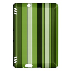 Greenery Stripes Pattern 8000 Vertical Stripe Shades Of Spring Green Color Kindle Fire Hdx Hardshell Case by yoursparklingshop