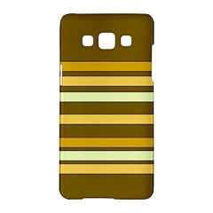 Elegant Shades Of Primrose Yellow Brown Orange Stripes Pattern Samsung Galaxy A5 Hardshell Case  by yoursparklingshop