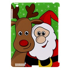 Rudolph And Santa Selfie Apple Ipad 3/4 Hardshell Case (compatible With Smart Cover) by Valentinaart