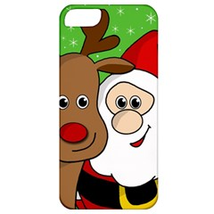 Rudolph And Santa Selfie Apple Iphone 5 Classic Hardshell Case