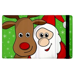 Rudolph And Santa Selfie Apple Ipad 3/4 Flip Case by Valentinaart