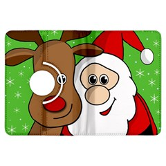Rudolph and Santa selfie Kindle Fire HDX Flip 360 Case by Valentinaart