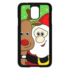Rudolph And Santa Selfie Samsung Galaxy S5 Case (black) by Valentinaart