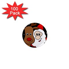 Xmas selfie 1  Mini Magnets (100 pack)