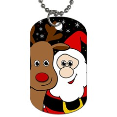 Xmas Selfie Dog Tag (two Sides) by Valentinaart